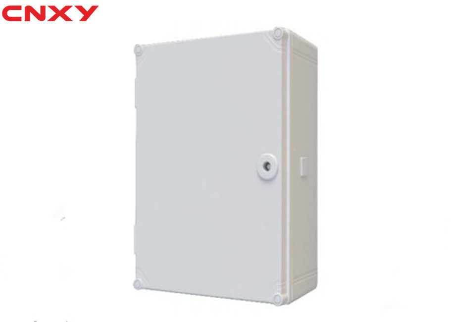 Grey Sealed Plastic Hinged Box , External Junction Box Long Life Span