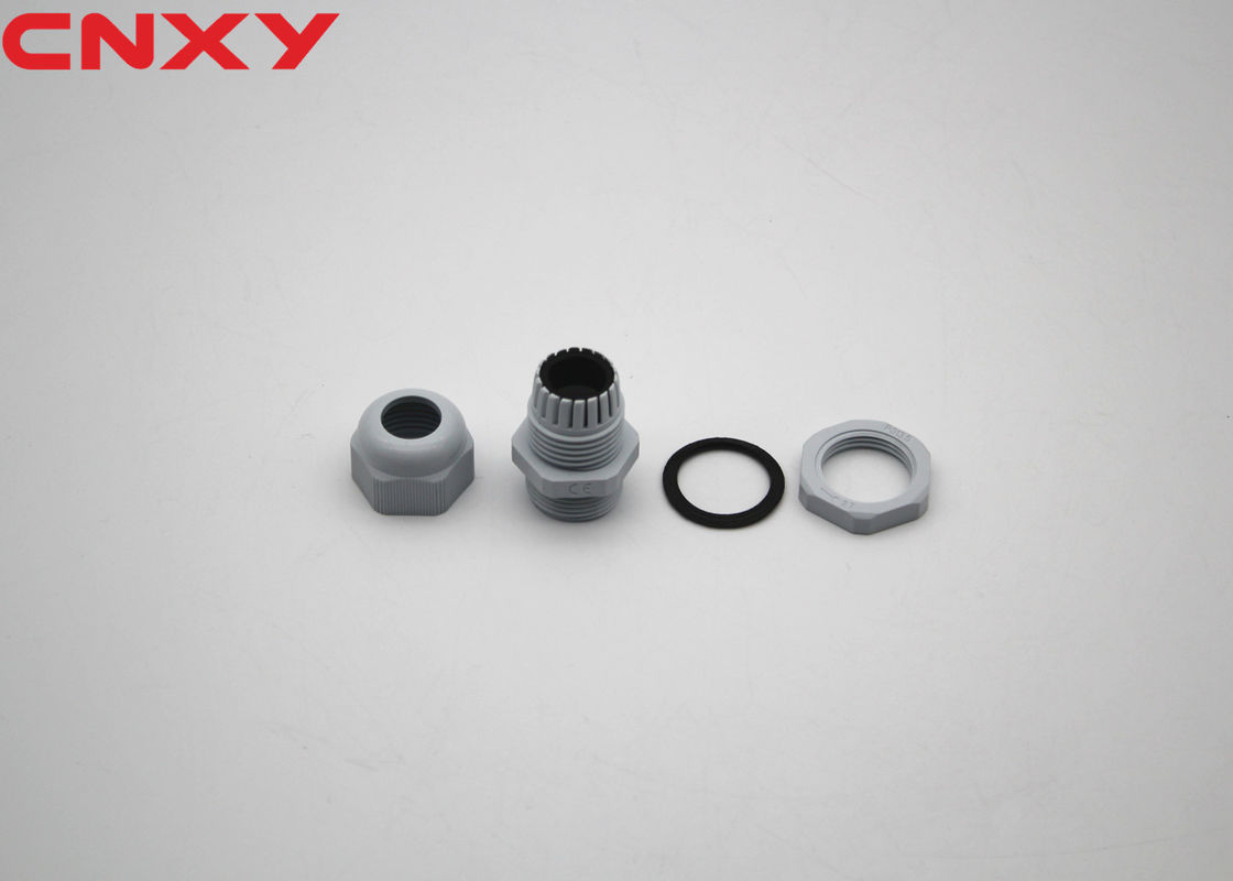 Lightweight Nylon Plastic Cable Glands Custom Color For Protecting Wire