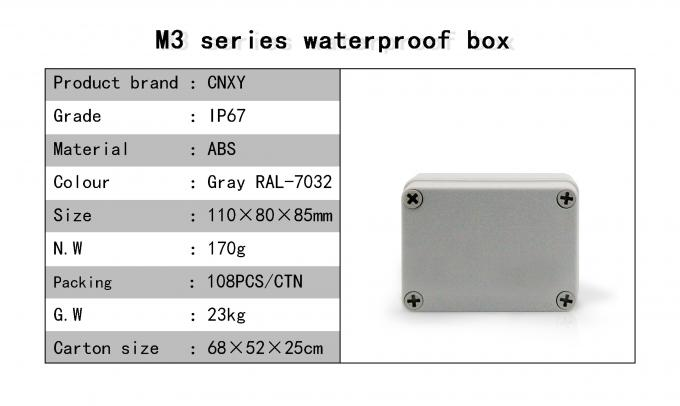 High Insulation Plastic Industrial Junction Box Custom Color With Nylon Screw