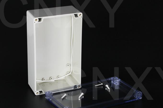Water Resistant Industrial Plastic Junction Box Copper Thread With Clear Lid