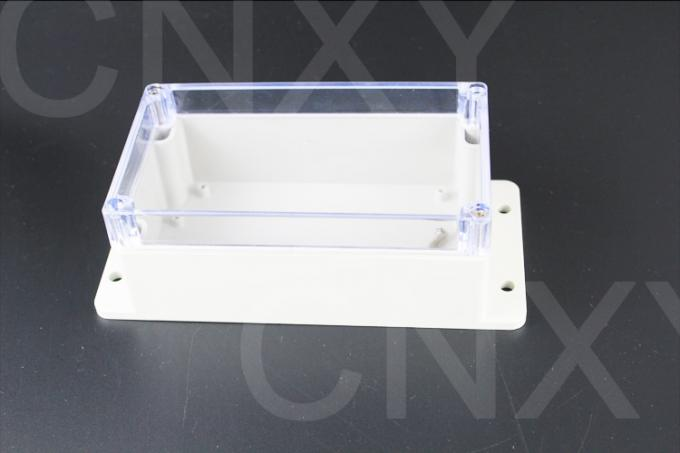 IP65 Waterproof Junction Box , Small Plastic Enclosure Transparent Cover