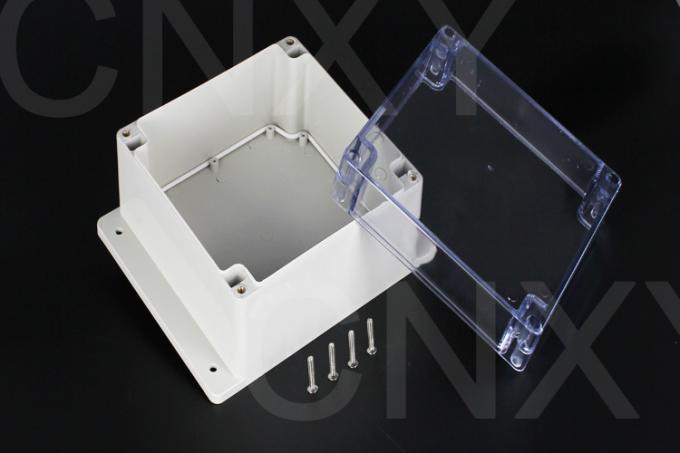 Lightweight Square Flanged Plastic Box Flame Resistent With Nickel Plated Screws