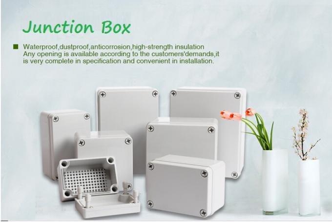 Anti Drop Cable Waterproof Junction Box Transparent Lid With Plastic Screw