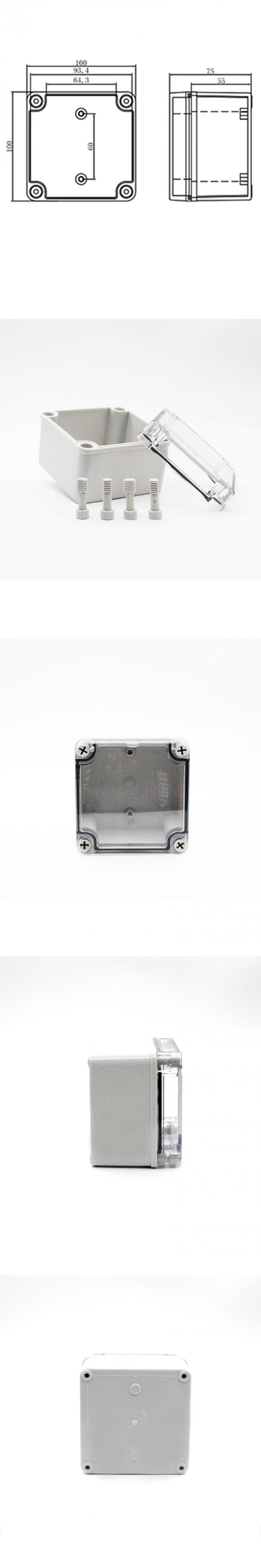 Square Waterproof Junction Box , Outdoor Electrical Box Enclosure PC Cover
