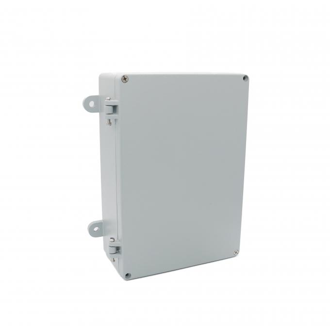 Outdoor Hinged Aluminum Box , Corrosion Proof Waterproof Junction Box