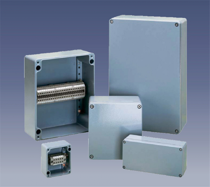 High Insulation Cable Connection Box , Customized Aluminium Electrical Enclosure